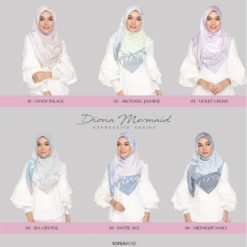 DIONA MERMAID EXPRESSIVE SQUARE SCARF