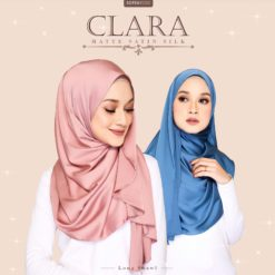 CLARA MATTE SATIN LONG SHAWL