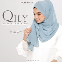 QILY PLEATED LONG SHAWL