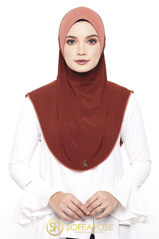 DANIYA EXPRESS HIJAB - 01 ORANGE SQUEEZE