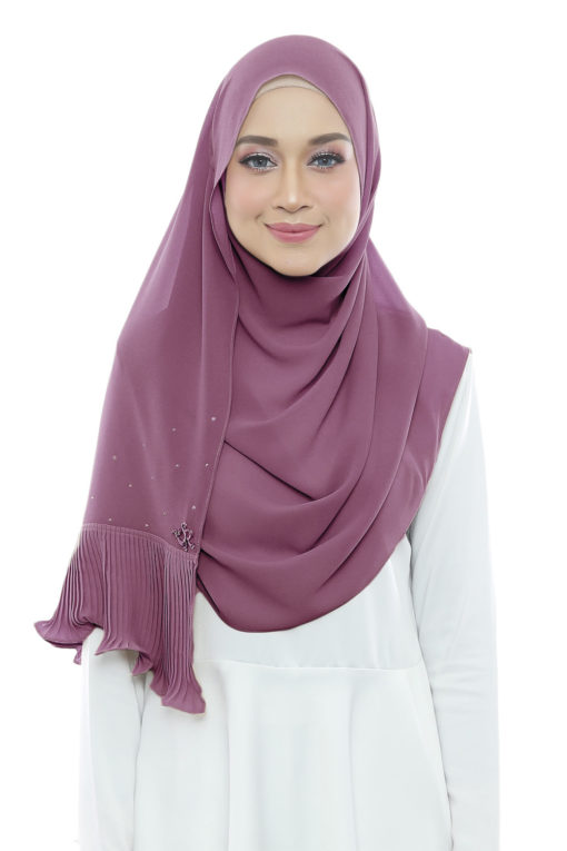DEWI PLEATED SHAWL - 07 PANSY PURPLE