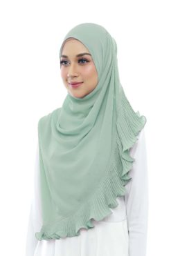 DEWI PLEATED SHAWL - 13 MINTY