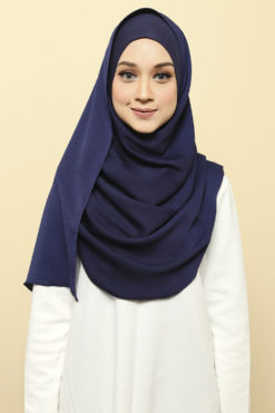 ISABELLE INNER ATTACHED SHAWL - 07 DENIM BLUE