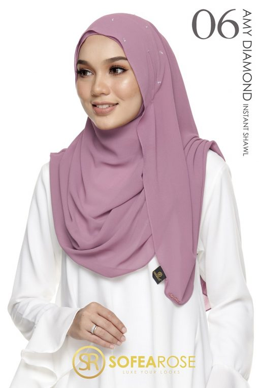 AMY DIAMOND INSTANT SHAWL 06 - ORCHID PINK