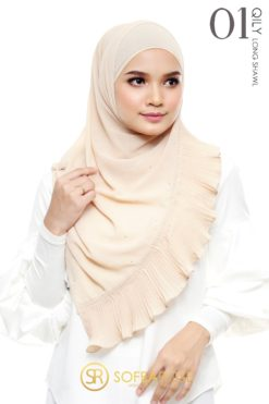 QILY PLEATED LONG SHAWL 01 - DESERT SAND